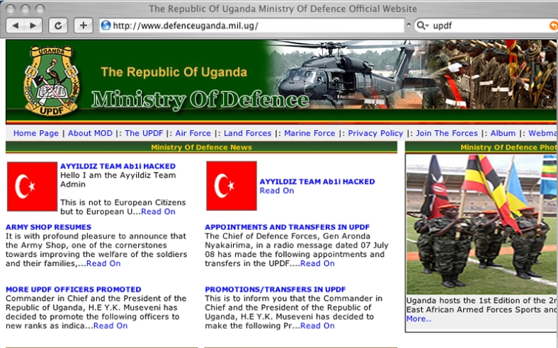 Uganda People's Defence Forces, Propaganda Platform