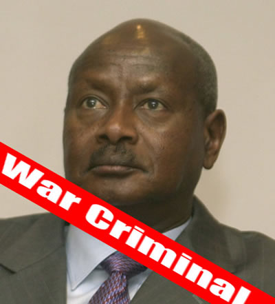 Ugandan President Yoweri Museveni accused for genocide and war crimes in northern Uganda since 1986.