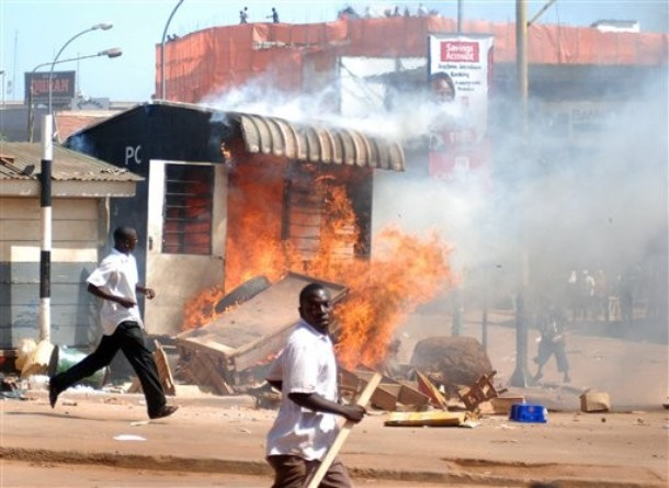 Police post set ablaze by Uganda Federo Patriots