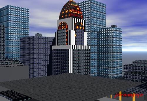African 3D Art featuring Virunga City