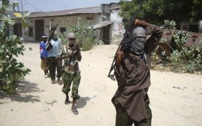 Militants from the Hizbul Islam patrol the streets of Somalia's capital Mogadishu