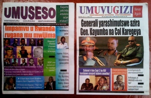 The Rwanda government has banned Umuseso and Umuvugizi newspapers for 6 months, as the presidential election polls approach on August 9th. Both publish in Kinyarwanda, the African language spoken by all Rwandans, whose educated elites also speak French and/or English. – Photo: Kigali Wire
