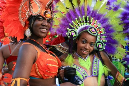 Dancers at the Notting Hill Carnival. London, UK, 30/08/2010 -- Dancers paraded through the streets of Notting Hill in West London during the annual multicultural street festival. London, UK. 30/08/2010