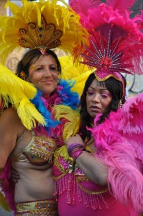 This year's Notting Hill Carnival fought off the rain to allow record numbers of people to attend the colourful annual street party. The outlandish costumes and good-natured fun has come to epitomise West Indian culture. London, UK. 31/08/2010
